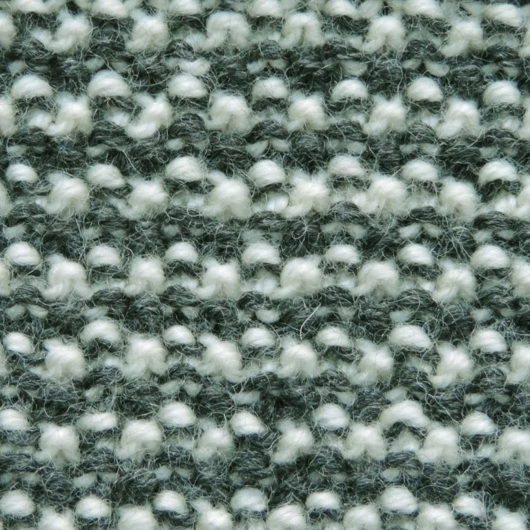Seed stitch; two row stripes; swatching; stitch patterns; knitting