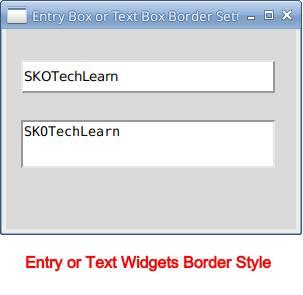Tkinter Entry Border Style