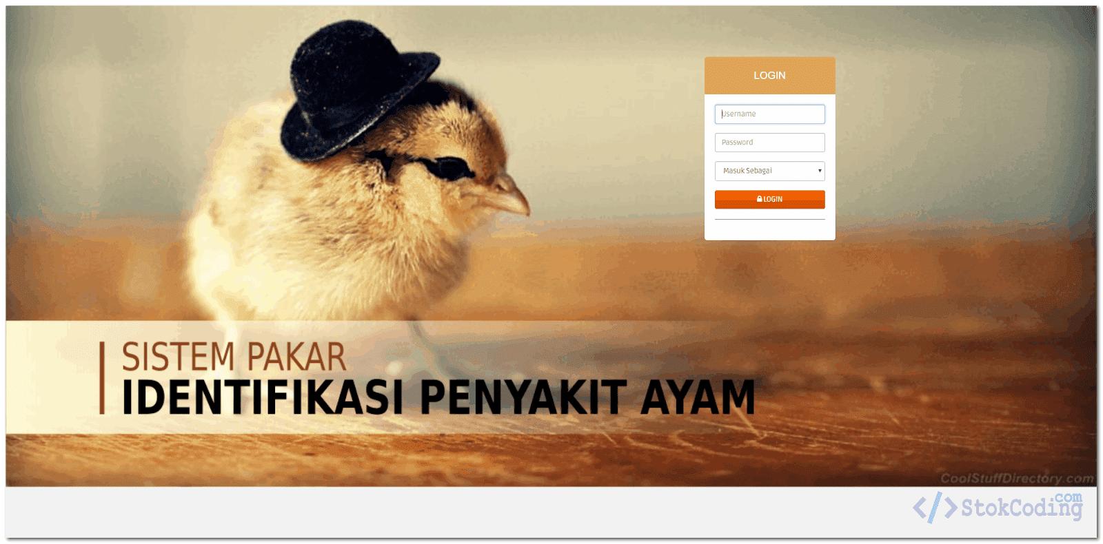 Sistem Pakar Penyakit Ayam Berbasis Web (Codeigniter)