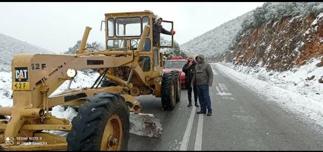 Με υπερπροσπάθεια κράτησαν τους δρόμους ανοιχτούς στο Δήμο Επιδαύρου