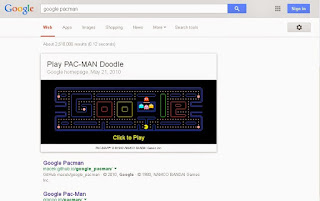 how to play pacman on google