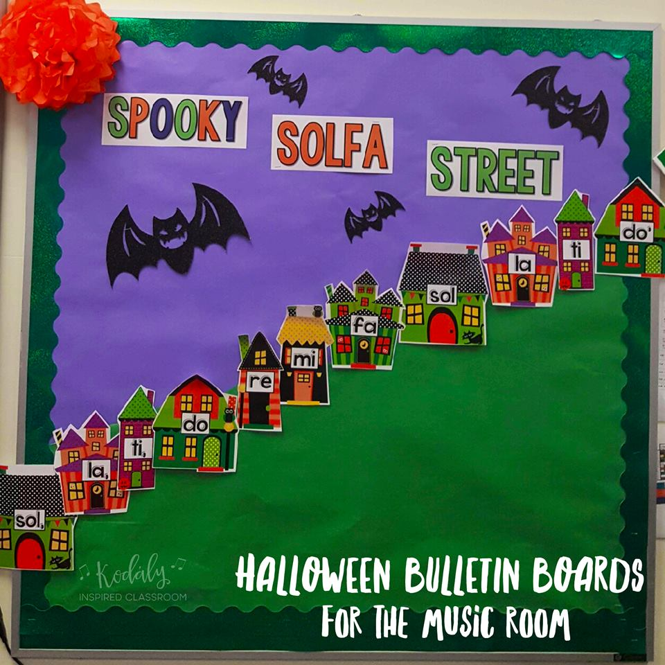 Kodaly Inspired Classroom: Bulletin Boards for Halloween in the ...
