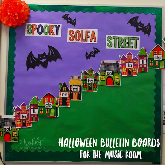 Bulletin Boards for Halloween in the Music Room