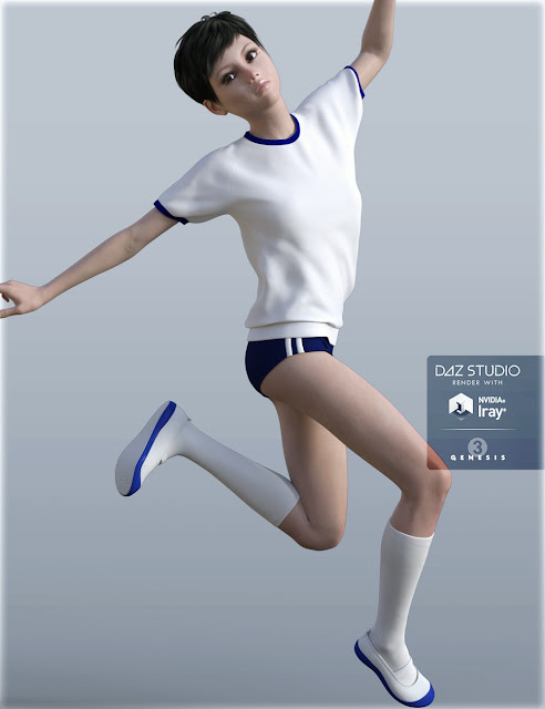 Japanese School Sportswear for Genesis 3 Female