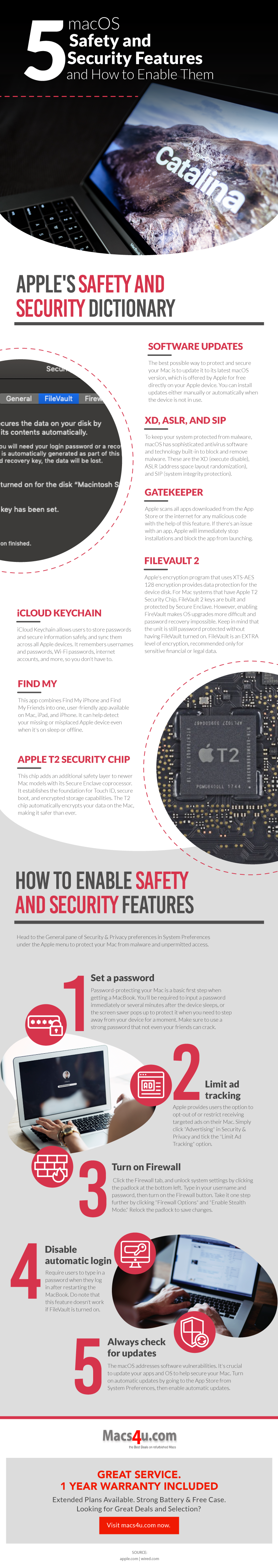 5 Macos Safety and Security Features and How to Enable Them #infographic