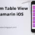 Custom Table View in Xamarin iOS