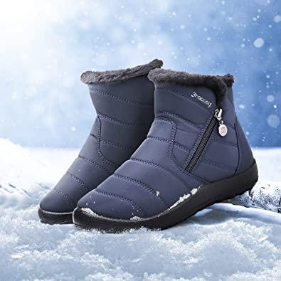 Botas de Nieve Zapatos de Trabajo Formal Calzado Antideslizante Ligero Botines Que Caminan