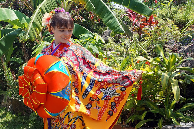 Okinawa kimono experience blogger, Miyakojima