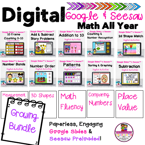 digital google & seesaw games for e learning and distance learning