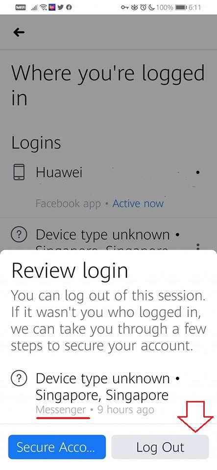 FB Review Login and Log Out