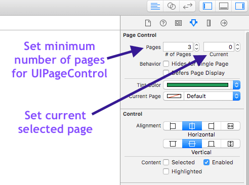 Setting number of pages in out UIPageControl and setting current page number
