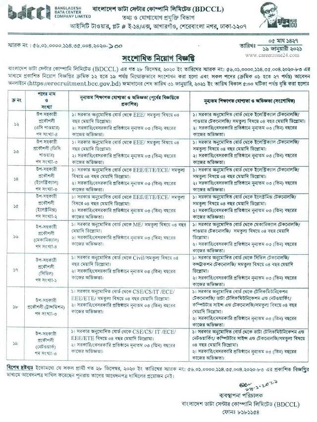 Bangladesh Data Center Company Limited (BDCCL) Job Circular