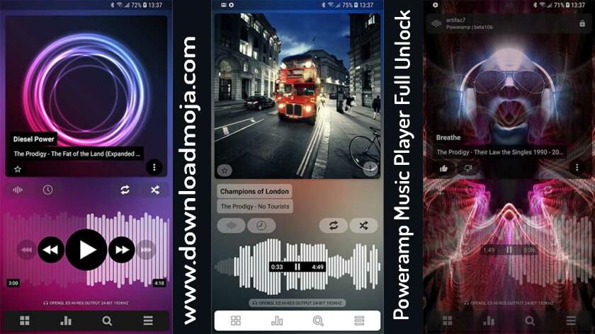 Poweramp Music Player v3 build 826 Pro Apk Full Unlock