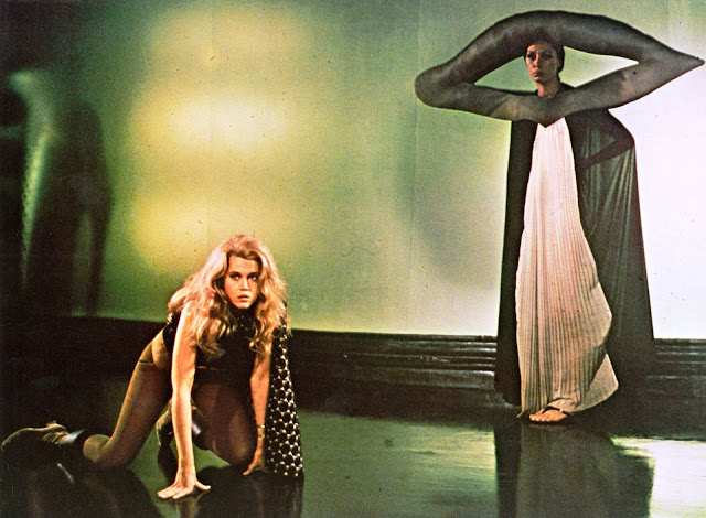 Jane Fonda hands and knees Barbarella 1968