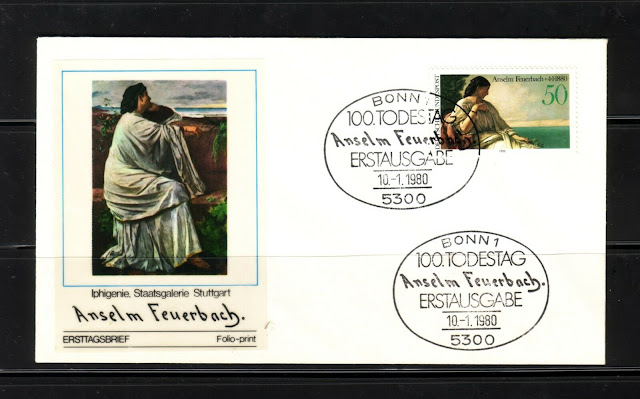 West Germany 1980 Feuerbach centenary First Day Cover