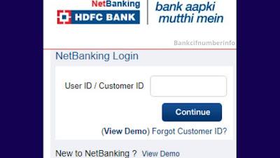 Visit HDFC Online Banking