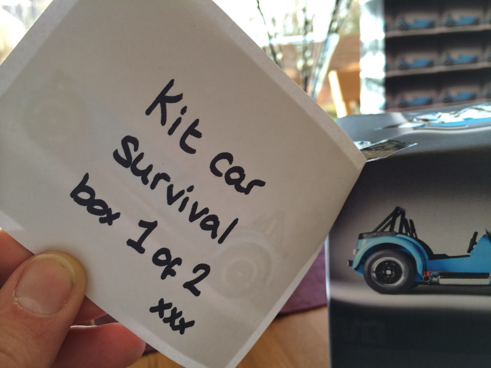 What on earth is a kit car survival box that comes in two parts?