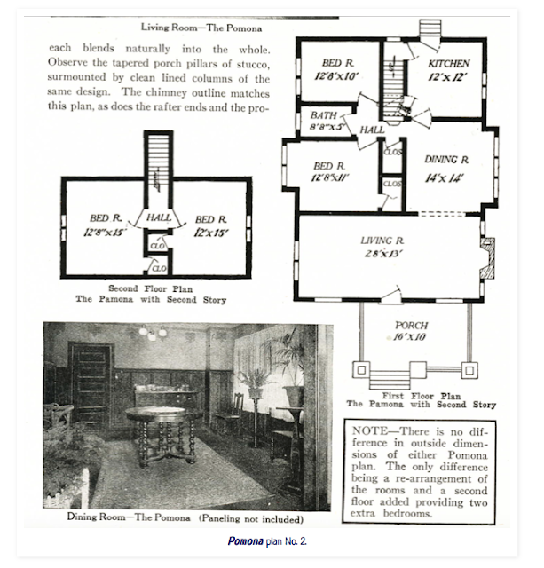 Aladdin Pomona floor plan 1918 catalog