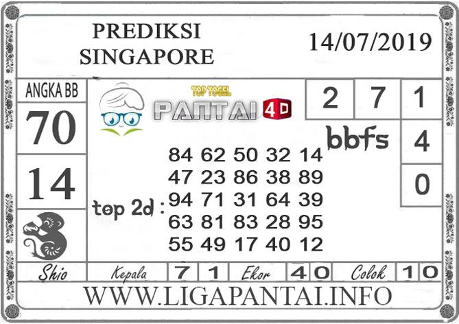 "PREDIKSI TOGEL ""SINGAPORE"" PANTAI4D 14 JULI 2019"
