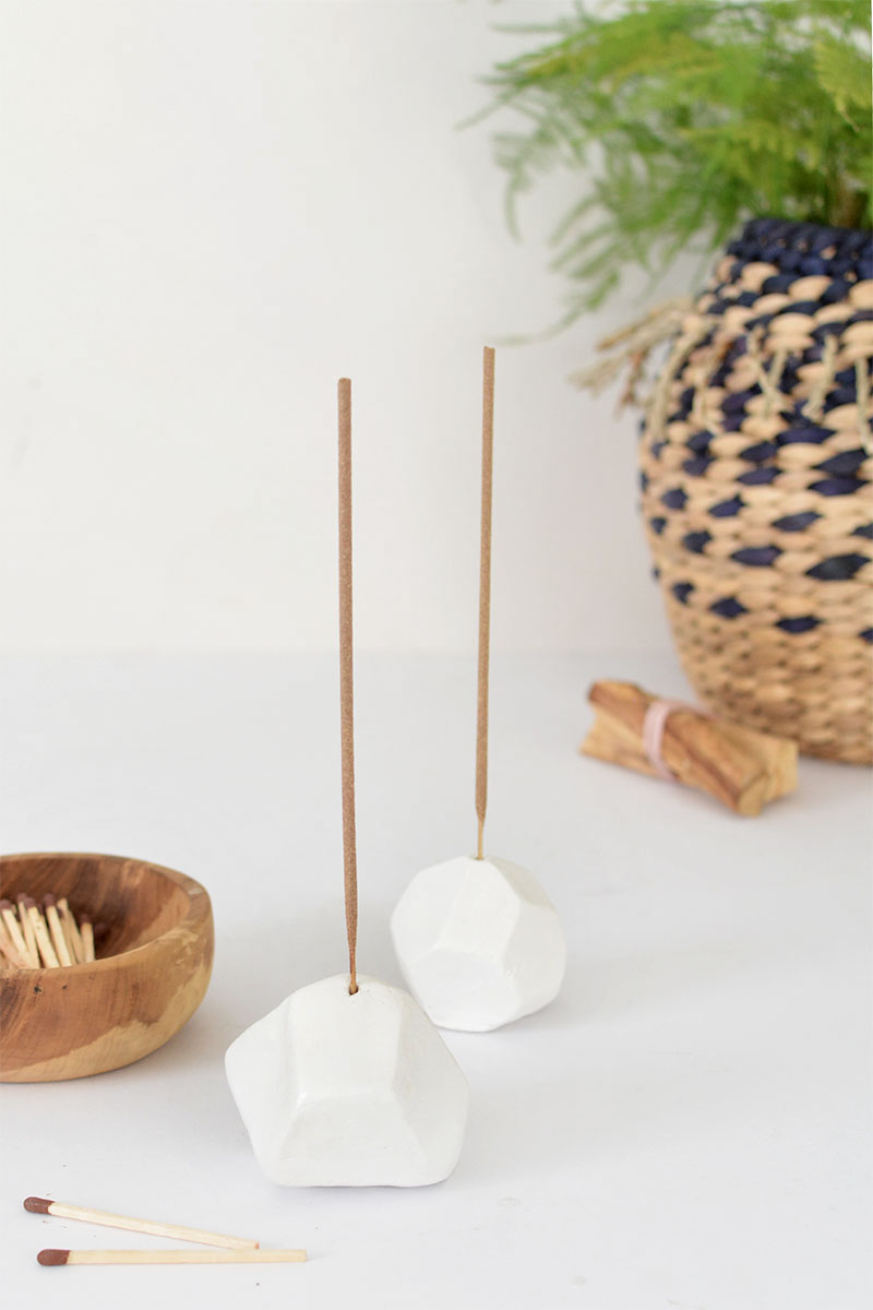 DIY air dry clay incense holder