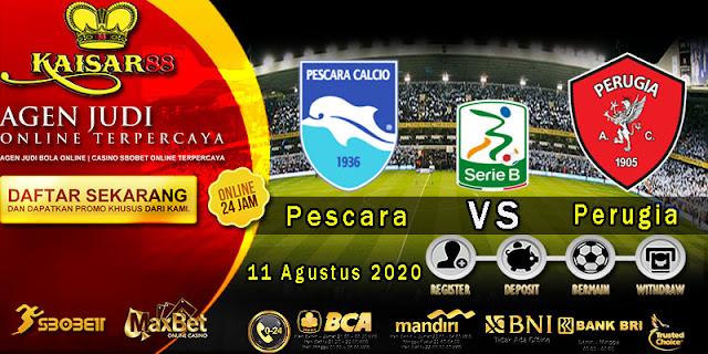 Prediksi Bola Terpercaya Liga Italan B Pescara vs Perugia 11 Agustus 2020