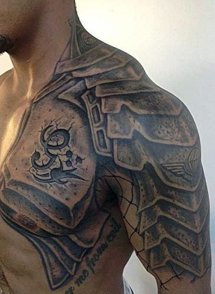 tribal Tattoos For Men shoulder and arm