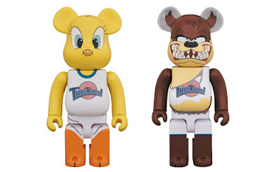 Space Jam Looney Tunes Tweety Bird & Taz Be@rbrick 400% Vinyl Figures by Medicom Toy