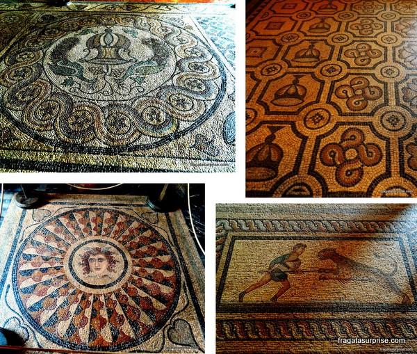 Mosaicos antigos no Palácio dos Cruzados - Rodes - Grécia