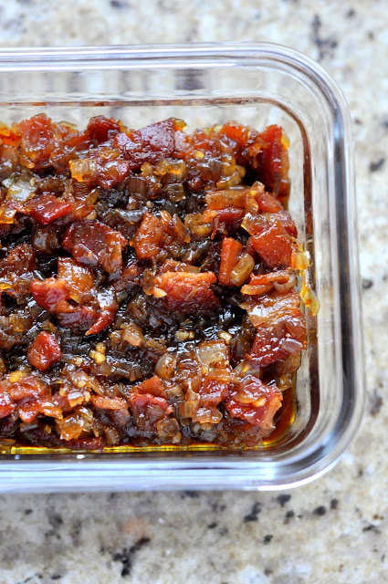 This homemade bacon jam is a fantastic savory way to combine salty and sweet. It makes the perfect partner to cheese and crackers and will take any sandwich you put it on to the next level.