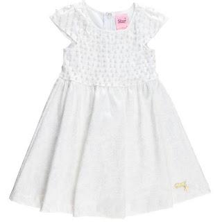 Vestido Branco de Réveillon para meninas
