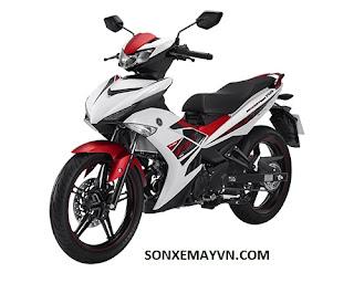 Bán Sơn xe máy YAMAHA EXCITER trắng đỏ đen