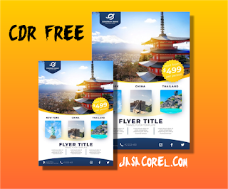Download Template Brosur Travel CDR