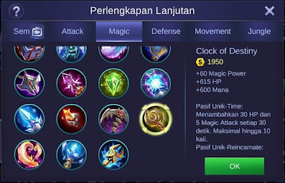 Clock of Destiny Mobile Legends