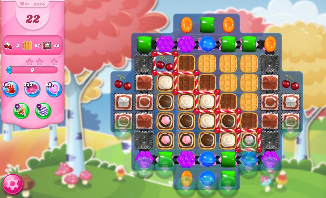 Candy Crush Saga level 6924
