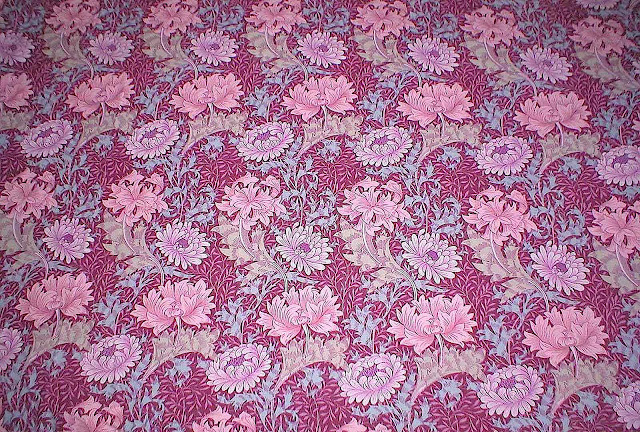 1800s William Morris purple wallpaper photograph
