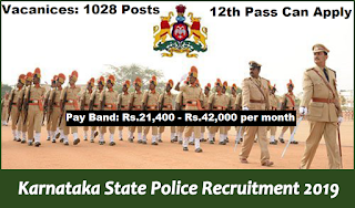 Karnataka State Police Recruitment 2019