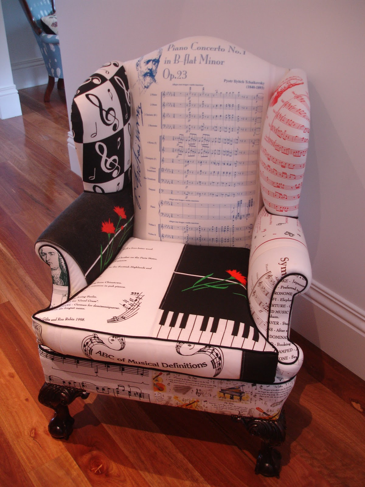 Music Chair Vintage Influence Latest Vintage Tea Towel Creation