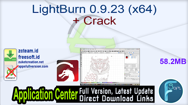 LightBurn 0.9.23 (x64) + Crack
