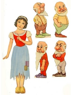 Snow White paper doll filmprincesses.blogspot.com