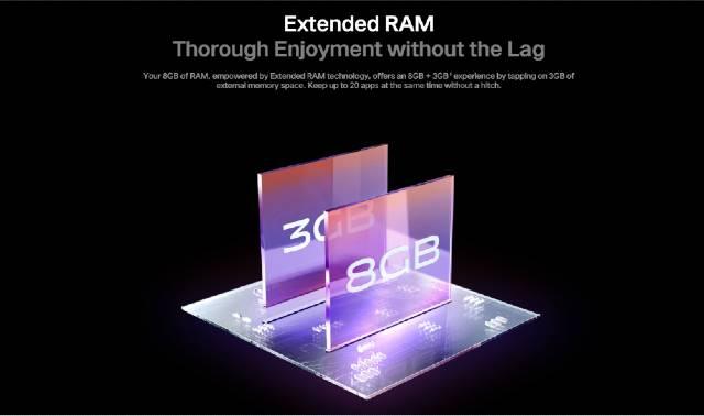 vivo V21e 5G extended RAM