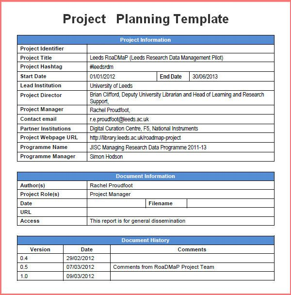 Free Project Planning Templates 2016 | Resume Business Template