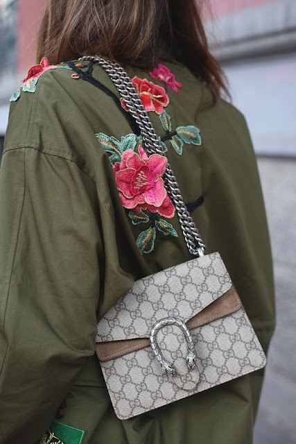 Lady Addict - Floral Embroidered Zara Jacket / Gucci Dionysus Bag