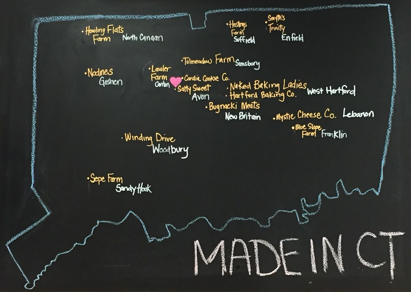 Local Food Rocks: Avon Prime Meats Locally Sourced Map