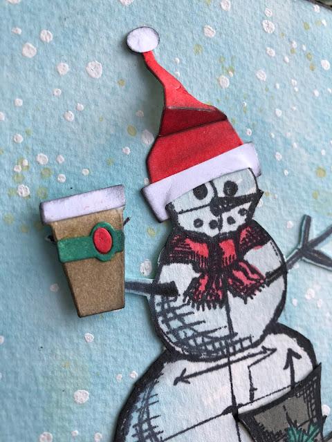 Sara Emily Barker https://sarascloset1.blogspot.com/ Tim Holtz Stampers Anonymous Sizzix Christmas Card 3