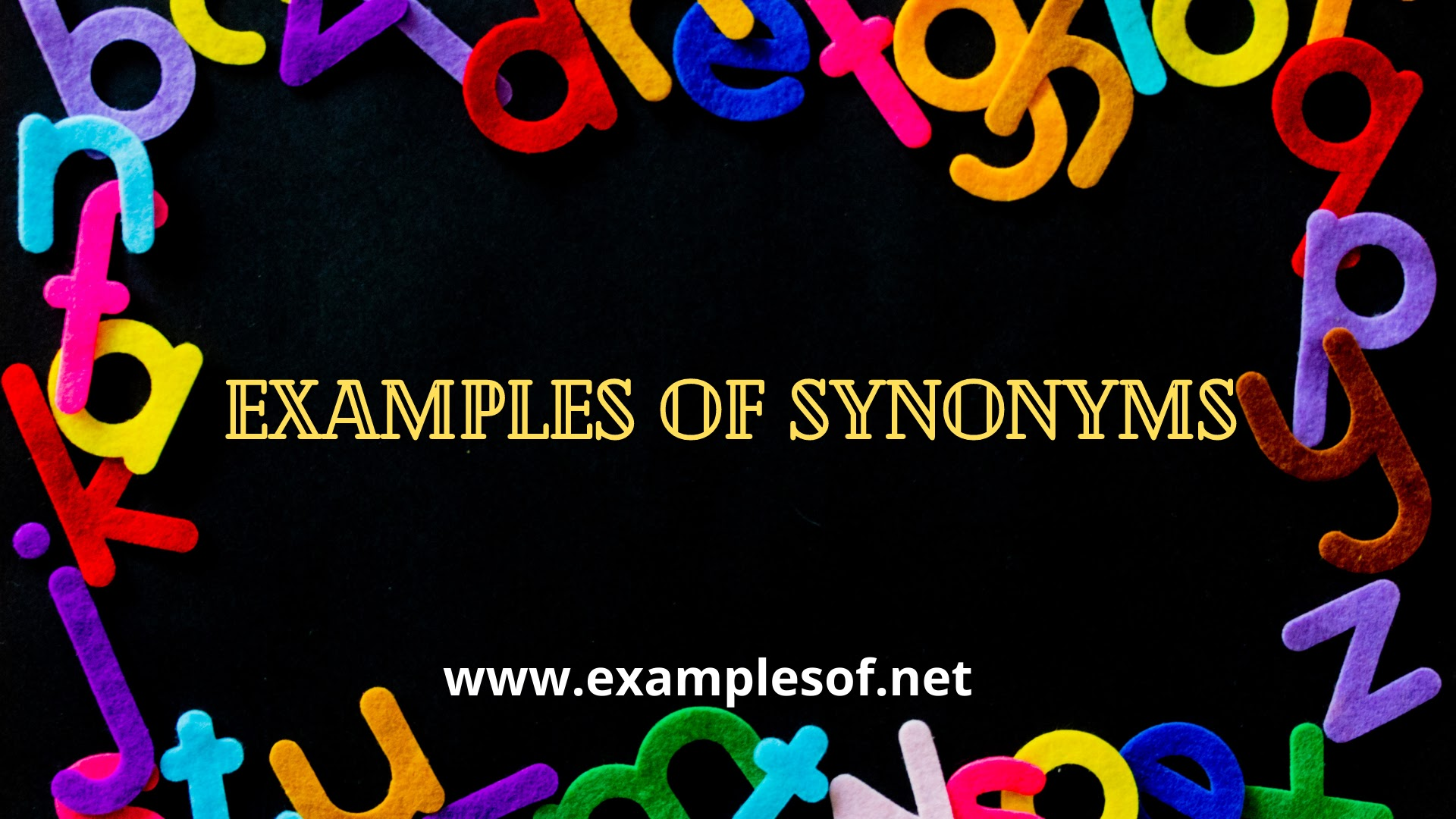 Example of Synonyms  - Easy English Lessons