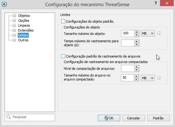 Procure vírus em seu computador com limite de arquivos pré-definido