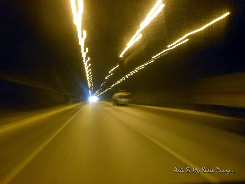 Crossing one of the tunnels - Mumbai Pune Expressway, India