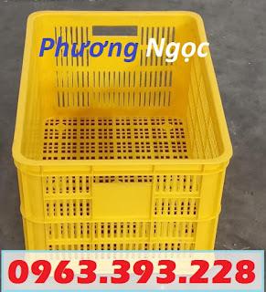 sot31 - Sọt nhựa rỗng HS004 cao 31, sọt nhựa đựng nông sản, sóng nhựa hở HS004