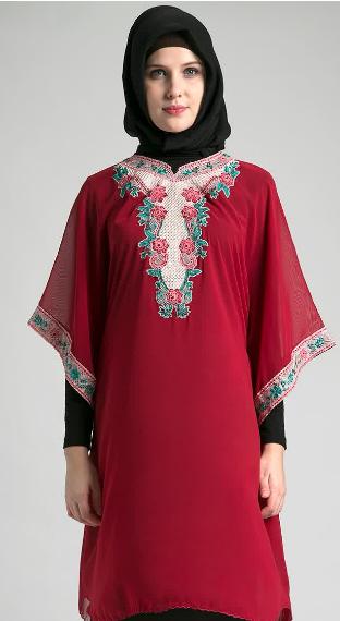 Model Baju Muslim Kebaya Brokat Untuk Ibu Hamil