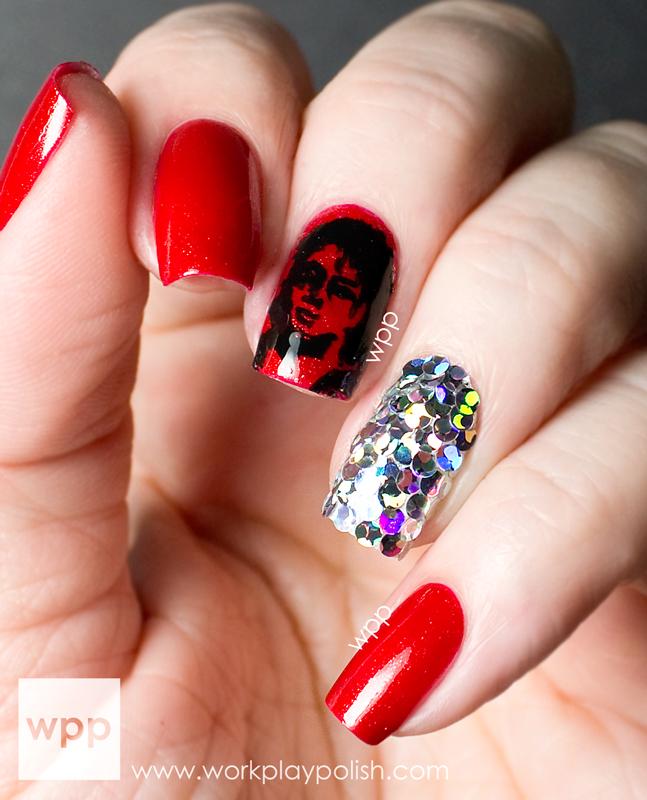 Michael Jackson Nail Art